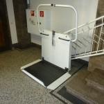 Bild des Treppenlifts (Position unten)