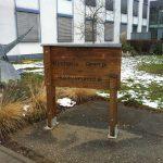 Foto des Orientierungschilds am Johann-Joachim-Becher-Weg