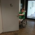 Bild des Eingangs zum barrierefreien WC